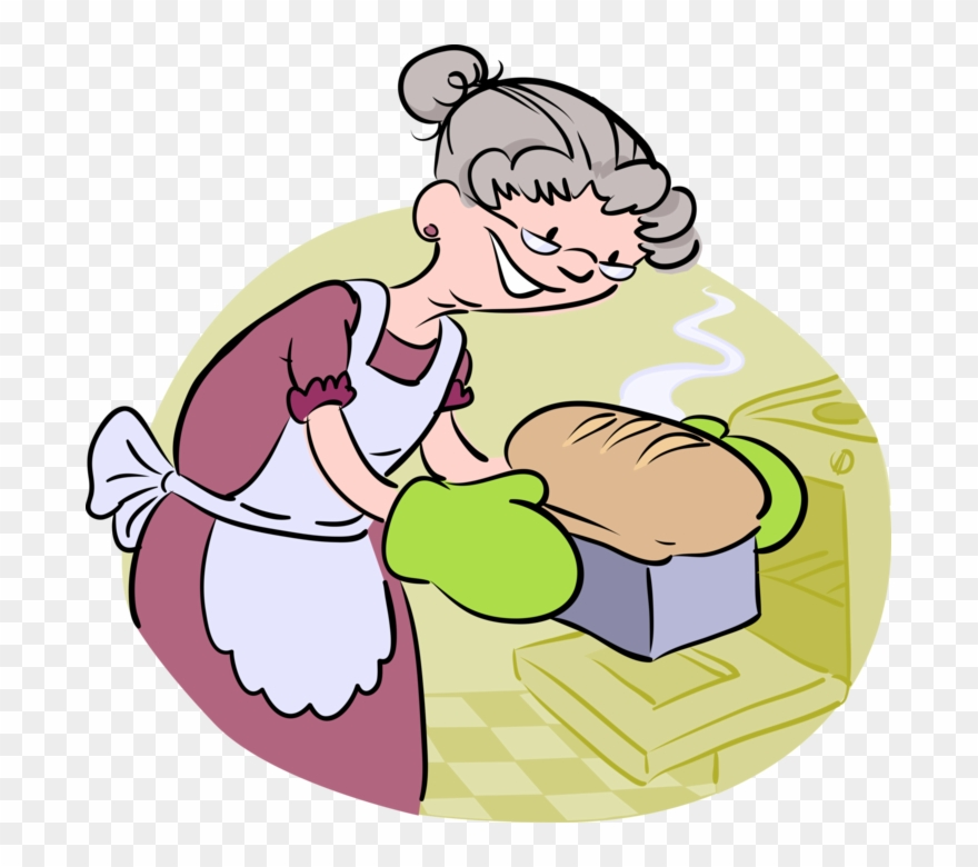 Baker Clipart Baking Bread.