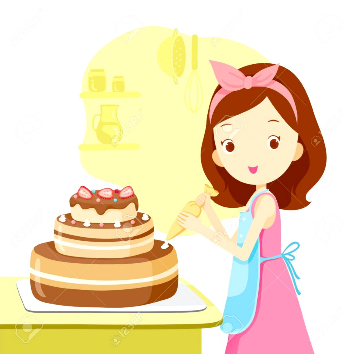 Cake Baking Clipart.