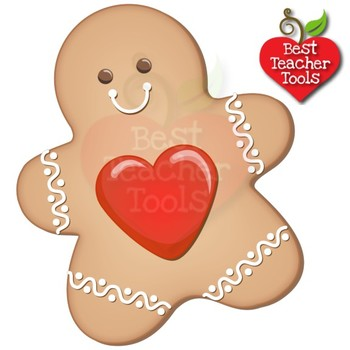 Christmas Digital Clipart, Gingerbread Cookie Clipart, Christmas Baking  AMB.