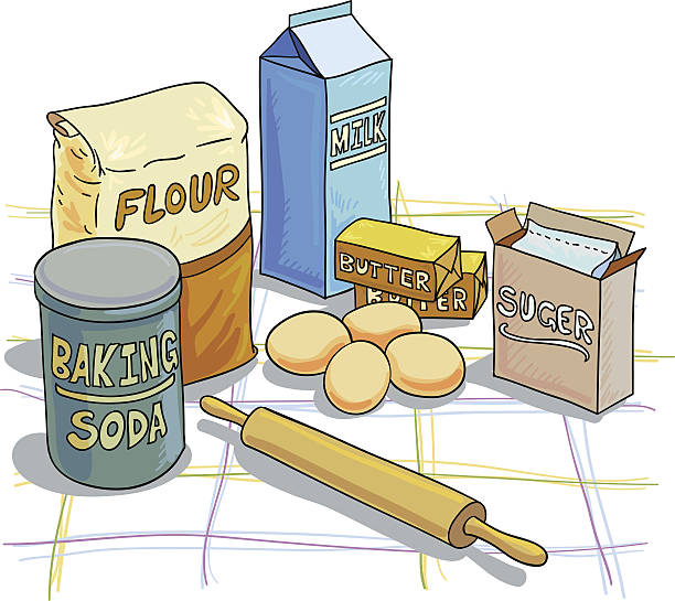 Best Baking Ingredients Illustrations, Royalty.