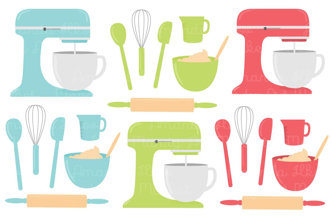 Vector Baking Clipart in Fresh by Amanda Ilkov.