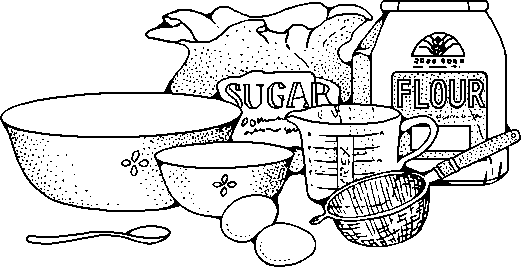 Baking Clip Art Black And.
