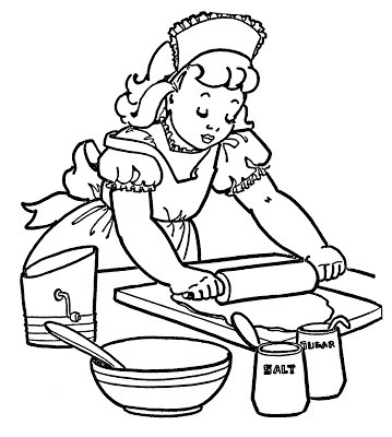Baking clipart black and white » Clipart Portal.