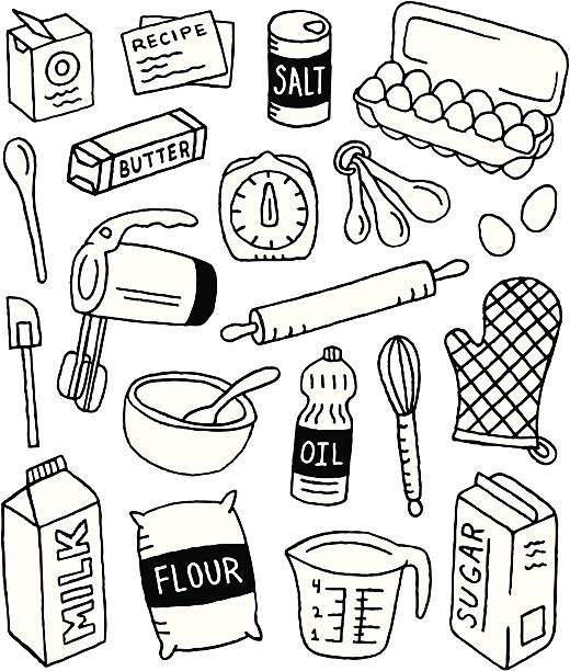 Baking clipart black and white 5 » Clipart Station.