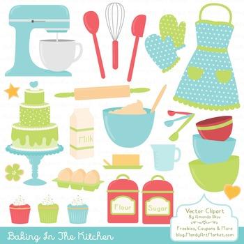 In The Kitchen Baking Clipart & Vectors in Fresh.