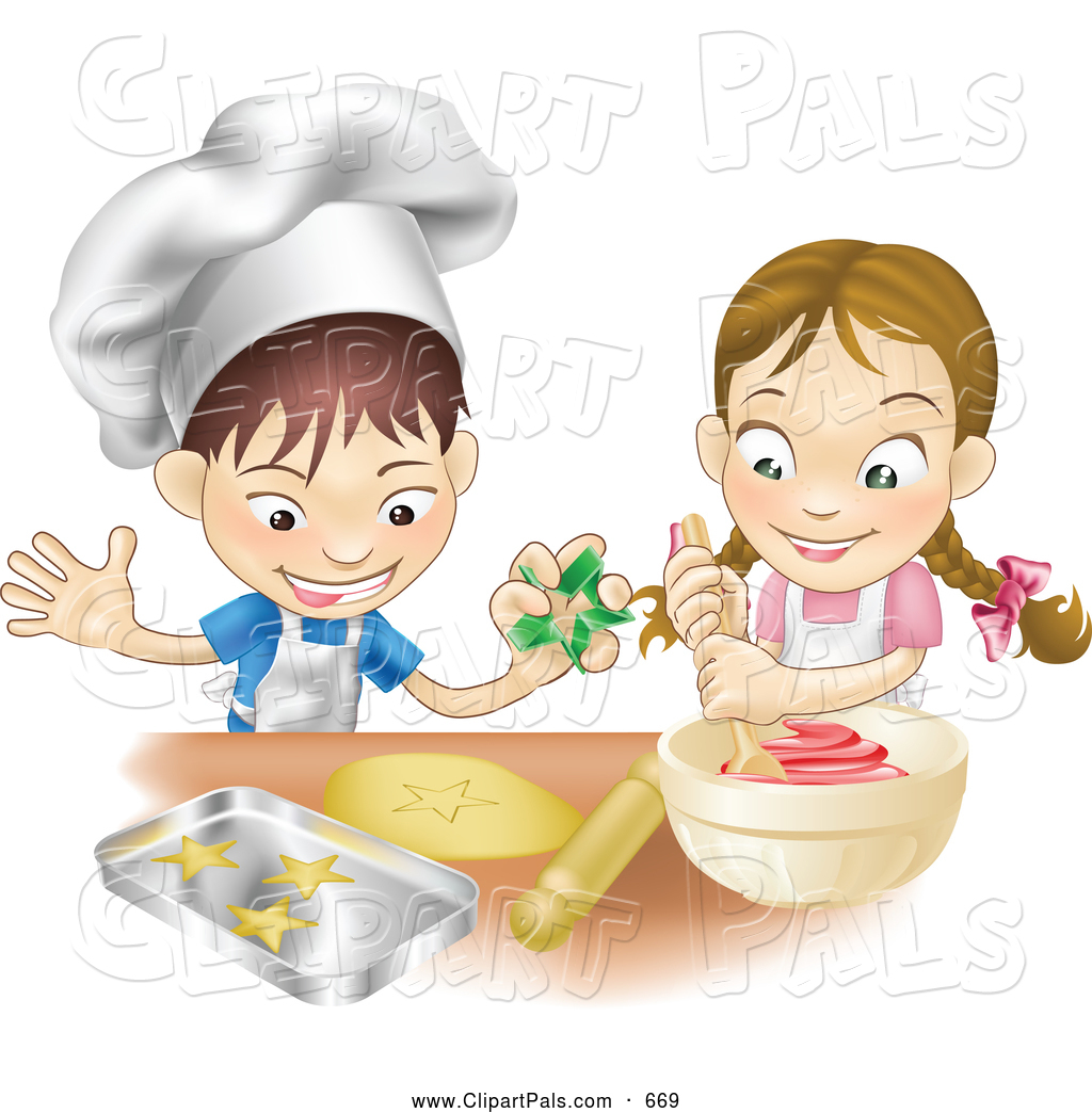Baking With Kids Clipart.