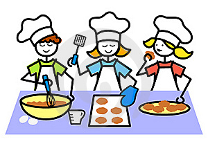 Baking class clipart images.