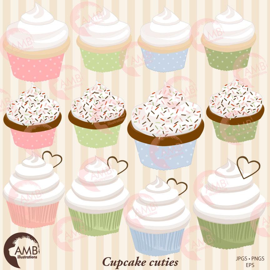 Cupcake clipart, Bake Sale Clipart, muffin Clipart, Baking clipart, AMB.