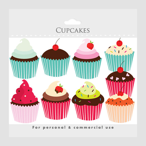 Cupcakes clipart.