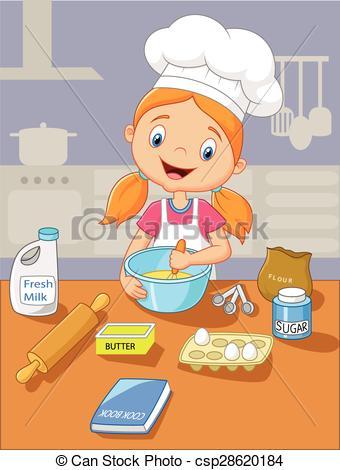 Baking Girl Clipart.