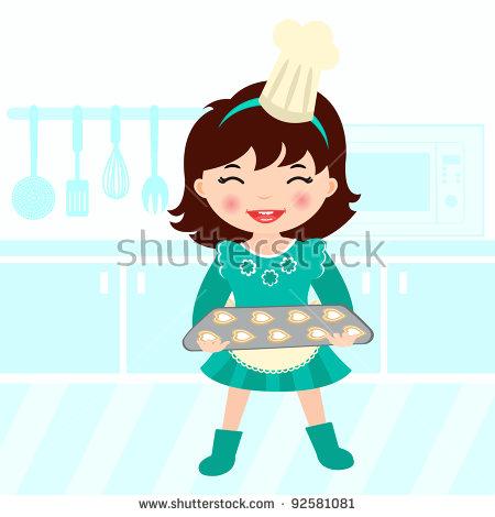 Baker Girl Stock Photos, Royalty.