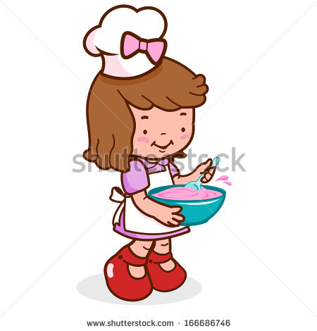 Bakery Girl Stock Images, Royalty.