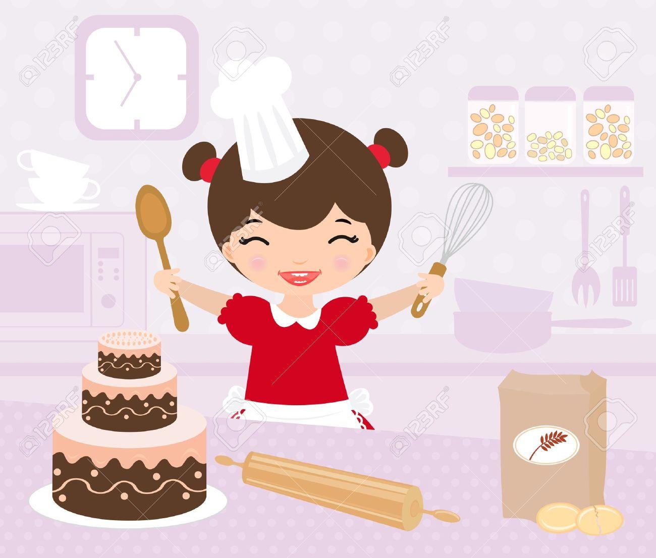 Woman Baker Clipart