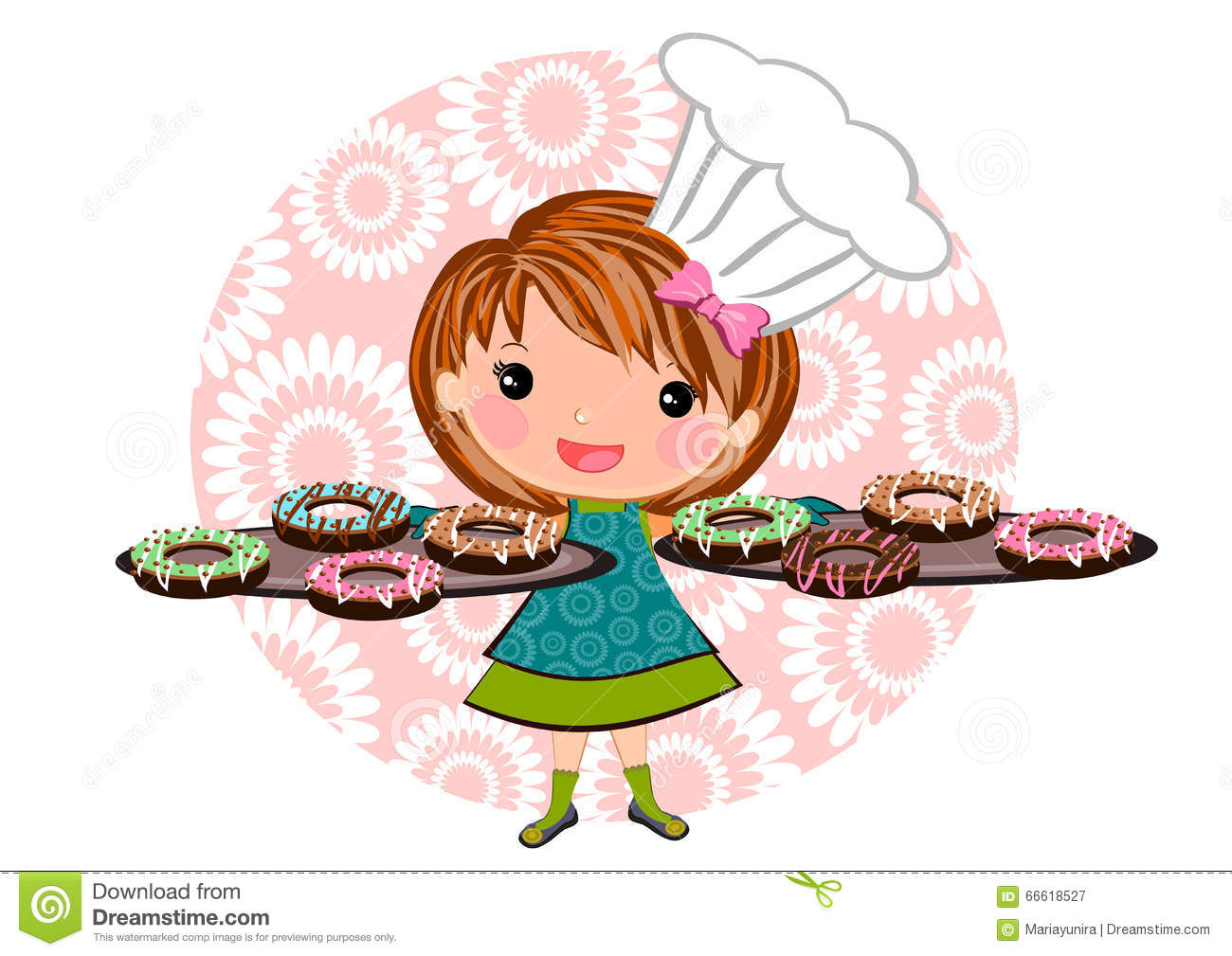 Baking Girl Clipart Clipground