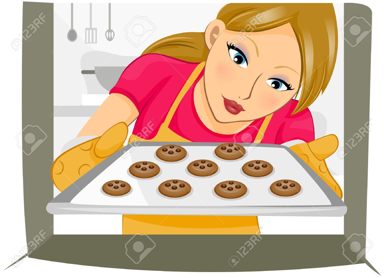 Showing post & media for Cartoon girls baking cookies.