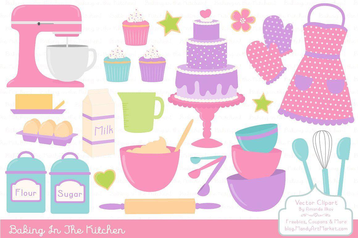 Girls Baking Clipart.