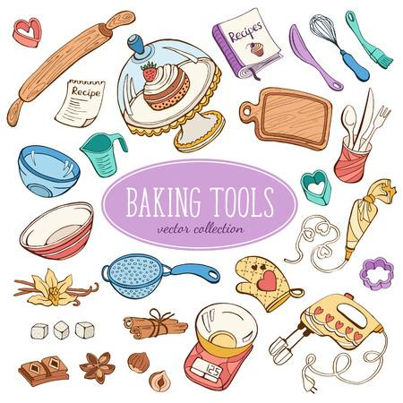 3,243 Baking Tools Stock Illustrations, Cliparts And Royalty Free.