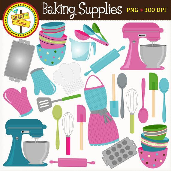 Baking Supplies Clipart.