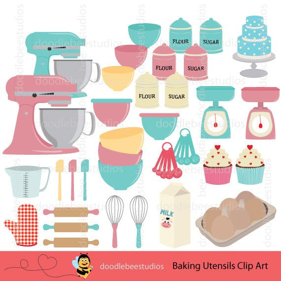 Baking utensils clipart 2 » Clipart Station.