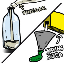 Baking Soda And Vinegar Clipart.