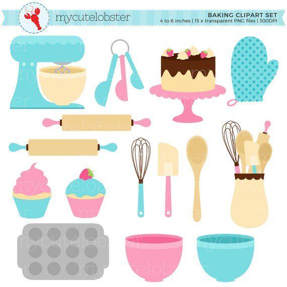 Baking Clipart Set.