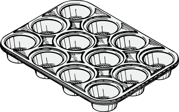Baking Tins Clipart.