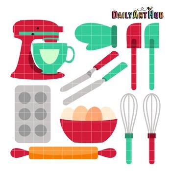 Baking Tools Clip Art.