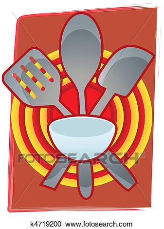 Baking Utensils grouped together in Clipart.