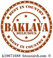 Baklava Clip Art Royalty Free. 69 baklava clipart vector EPS.
