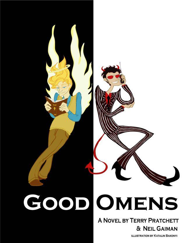 """Art based on """"Good Omens"""" @Neil Gaiman, @Terry Pratchett."""