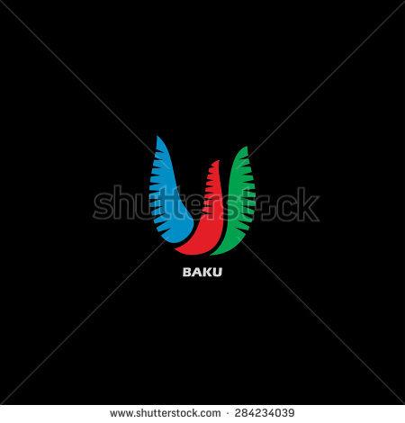 Baku Symbol Flame Towers Bird Symbol Stock Vector 284793965.