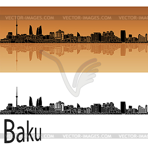 Baku skyline.