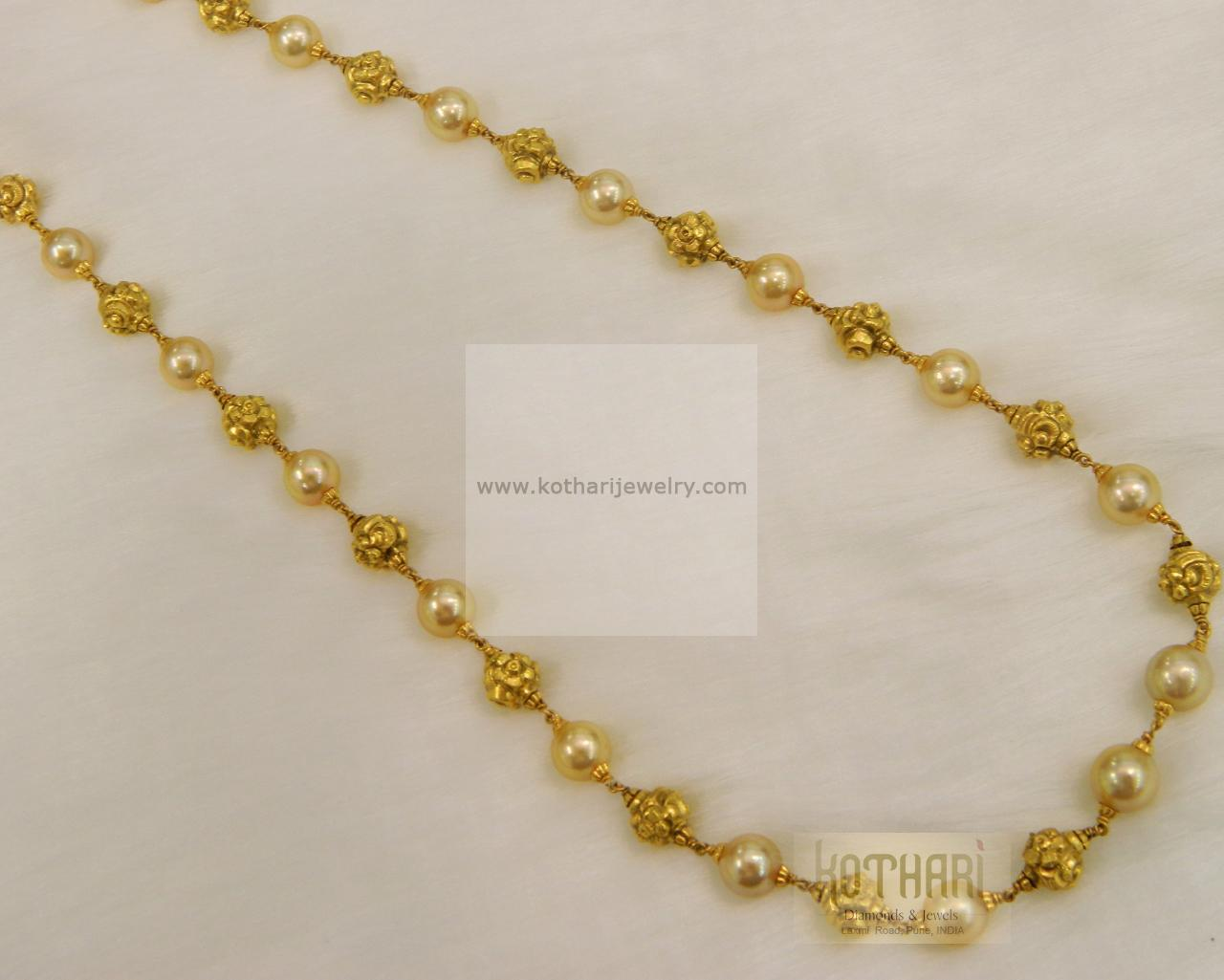Gold Jewelry Mala Set Design.