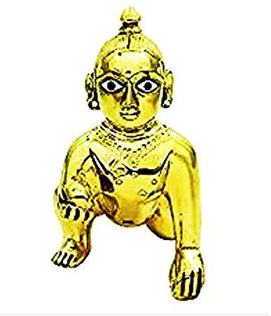 Buy laddu Gopal 5 INCH Height laddu Gopal Brass Idol sstatue.