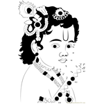 krishna Connect The Dots printable worksheets.