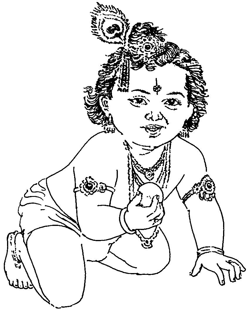 Beautiful Krishna Drawing.