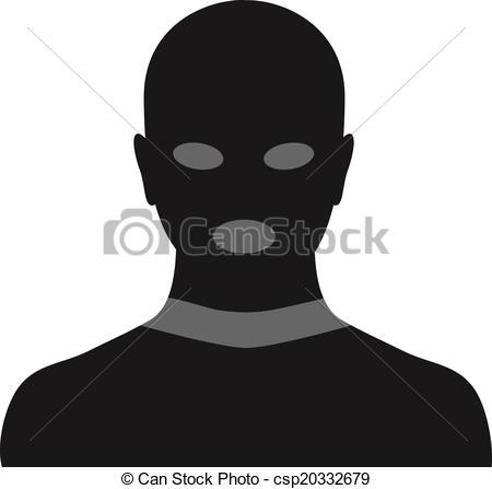 Vectors Illustration of criminal in mask.