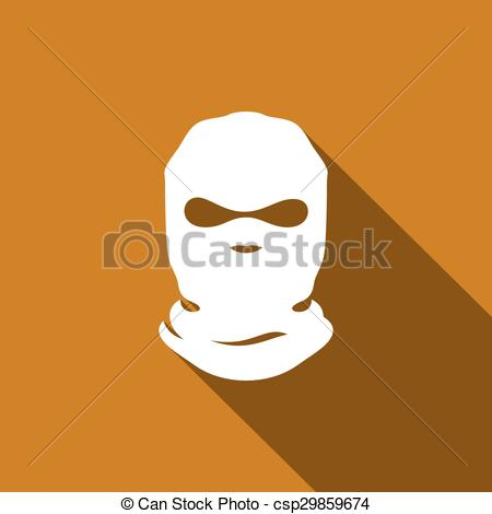 Vectors Illustration of Mask terrorist vector sign.