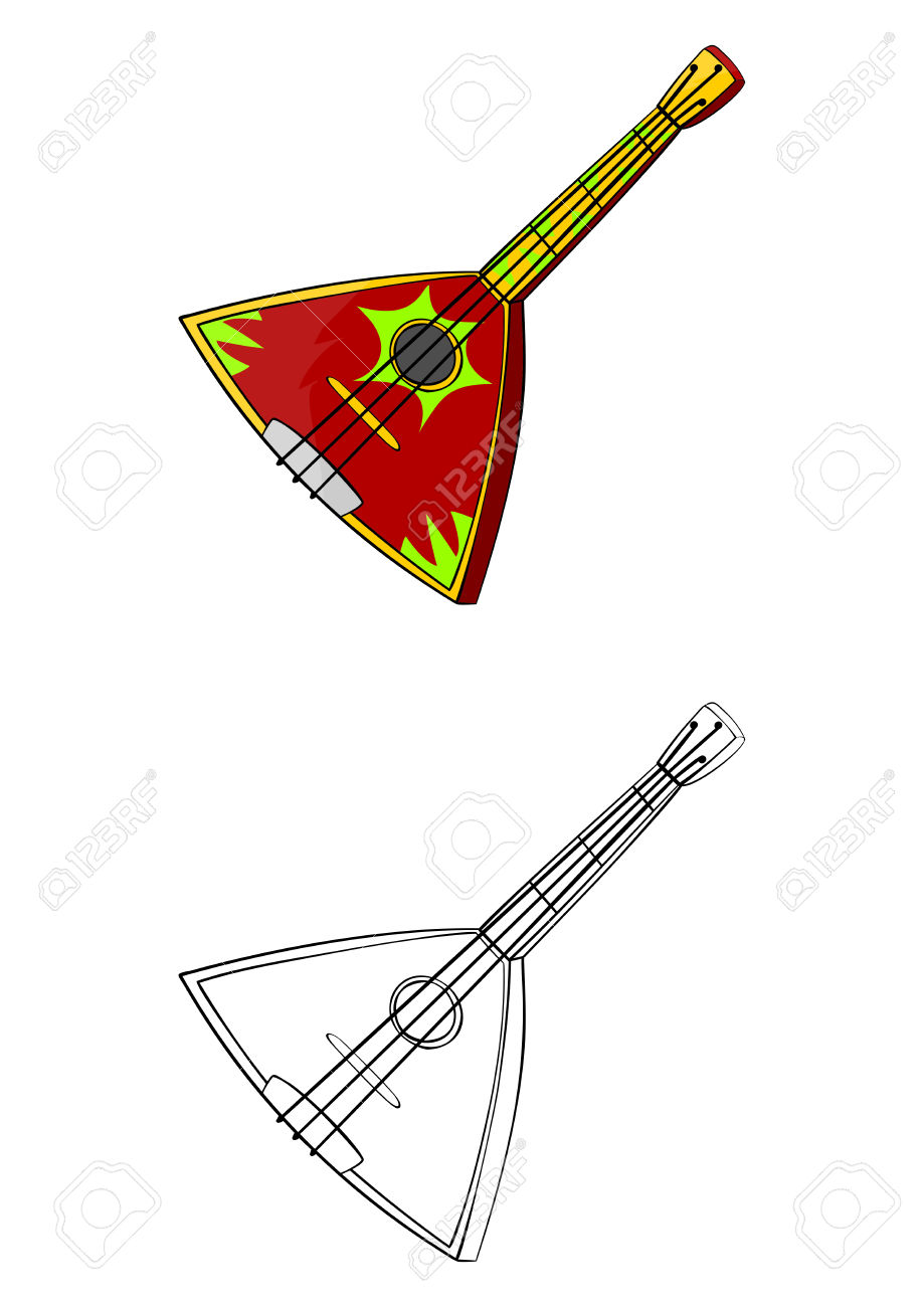 Balalaika Traditional Ukrainian Or Russian Musical Instrument.