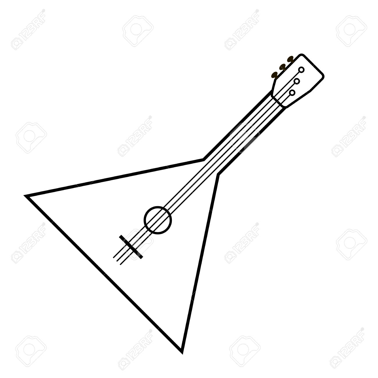 Balalaika Icon Isolated On White Background. Vector Illustration.