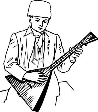 Balalaika clip art.