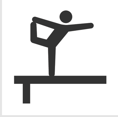 Athletics and Gymnastics Icon Set.