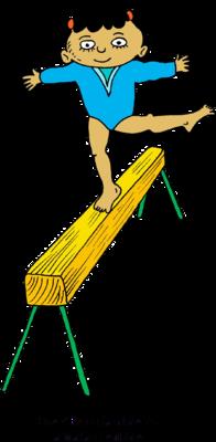 Gymnastics Balance Beam Clipart.