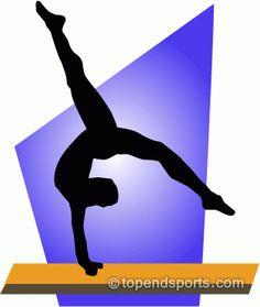 Gymnastics Balance Beam Scale Clipart.