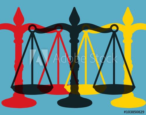 Balance de la justice. Pop art.