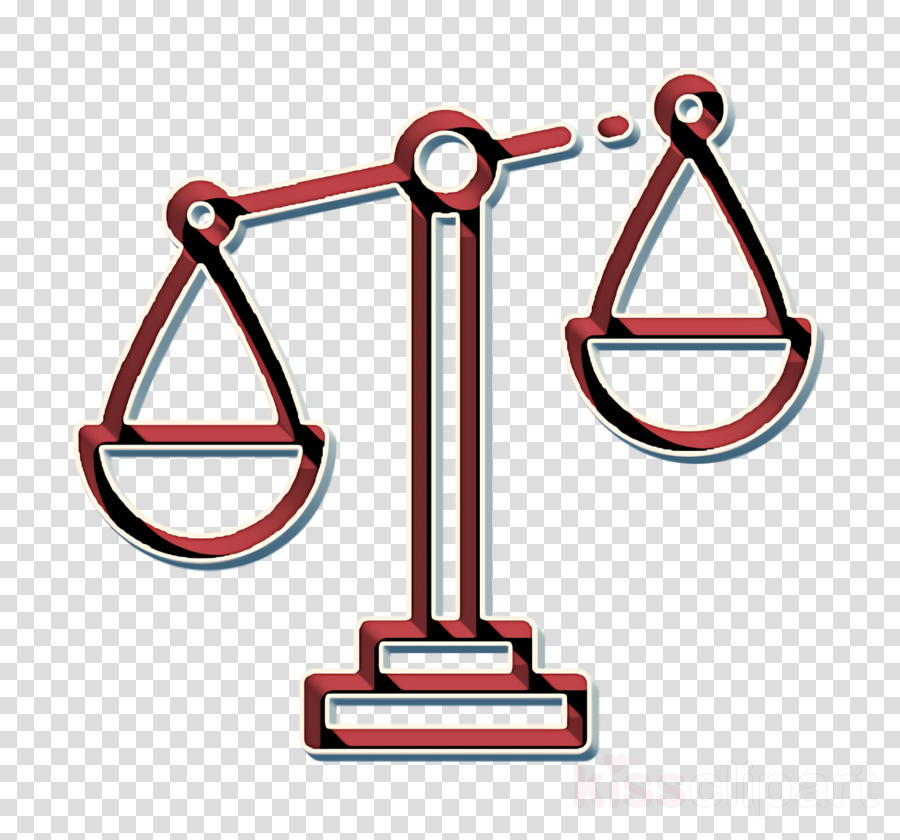 Law icon Balance icon Business Management icon clipart.