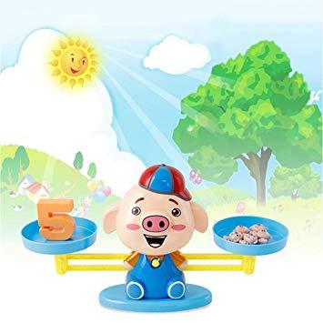 Amazon.com: Vkarh Child Balance Game Scale Toy, Little Pig.