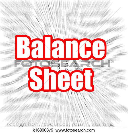 Stock Illustration of Balance Sheet, Accounting Documents.