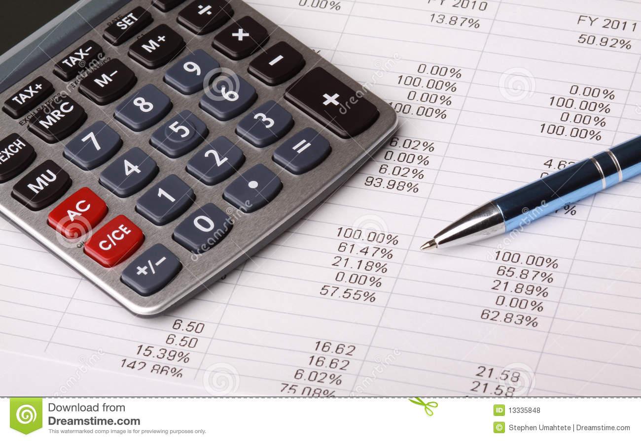 Business Balance Sheet Royalty Free Stock Photos.