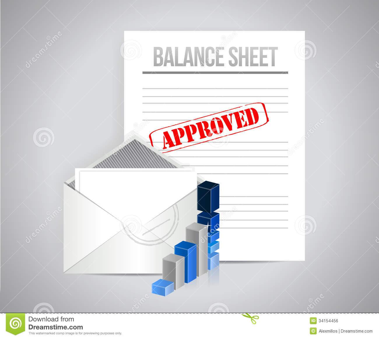 Balance Sheet Stock Illustrations.